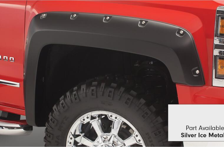 Fender Flares Pocket Style-Color Quicksilver Metallic Smooth Finish 4 Pc