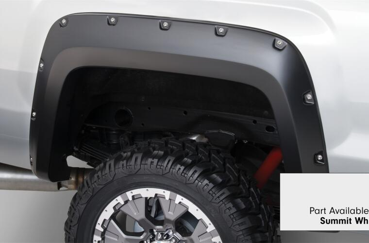 Fender Flares Pocket Style-Color Summit White Smooth Finish 4 Pc