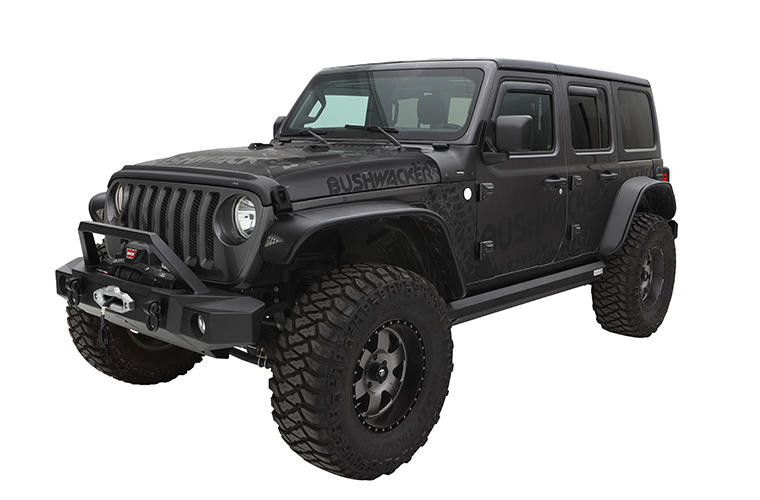 flat fender flares on a jeep